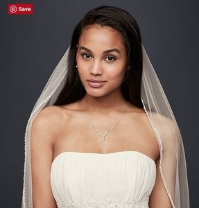 Bridal elbow length veil